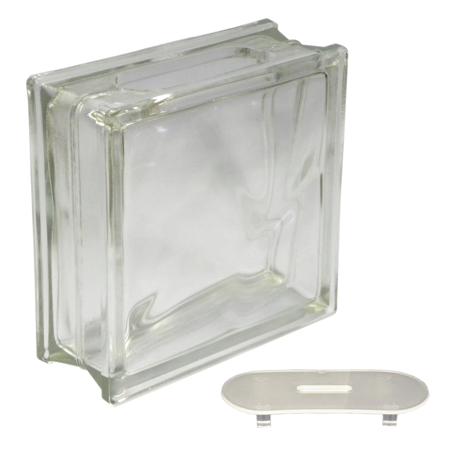 clear wave craft block glass blocks glass block diy kits